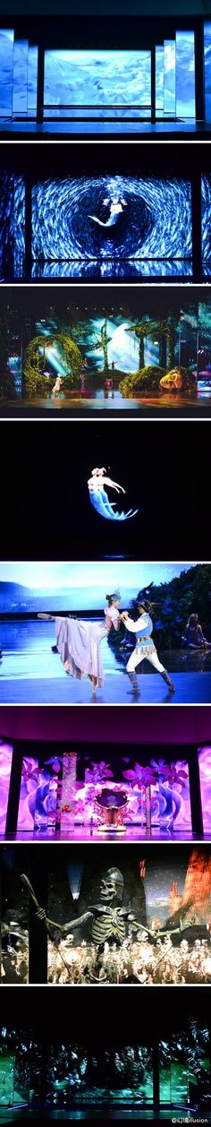 Located west of Shanghai China on the beautiful Tahiu Lake and featuring a cast of 60 international and Chinese dancers and acrobats, Illusions was presented in a newly build 1400 seat theater.