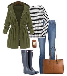 Get some inspiration for what to wear this month with these 15 October Outfit Ideas. From casual to dressy outfits, you'll get some serious fall fashion inspiration. Outfits Dia, Plaid Shirt Outfits, Dressy Outfits, Rain Outfits, Green Hunter Boots, Hunter Boots Outfit, Poncho Outfit, Patch Jeans, Hunter Boots