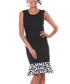 Loving this Black & White Sleeveless Dress on http://www.zulily.com/?SSAID=930758&tid=acceleration_930758 #zulily! #zulilyfinds