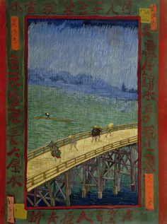 Japonaiserie: 'Bridge in the Rain', 1887 - Vincent van Gogh