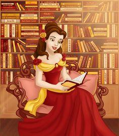 Princess Belle - disney-princess fan art my Heather's fav Disney movie :) Disney Girls, Disney Love, Disney Magic, Disney Art, Walt Disney, Disney Jasmine, Esmeralda Disney, Disney Princess Belle, Disney Princess Dresses