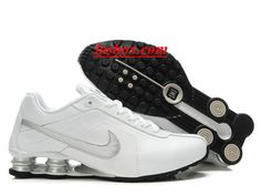 the best attitude 0566a 01358 chaussures nike shox r4 homme blanc argent