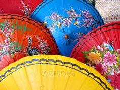 Colorful umbrellas at the Bo Sang Umbrella Festival 2011