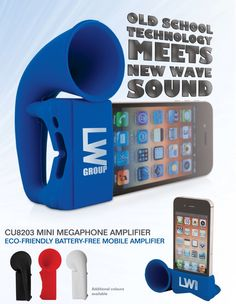 Amplify Your Marketing Message - Mini Megaphone Amplifier - Coming June Gadgets And Gizmos, Technology Gadgets, Tech Gadgets, Iphone Stand, Free Iphone, Brand It, Pretty Cool, Promotion, Messages