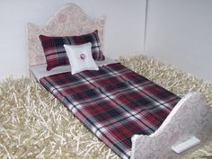 Comforter |  Matching Pillows |  For 18 Dolls |  Handmade | ByOldSpoolMomOnEtsy  | Plaid | Fits American Girl Beds |