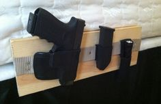 How To Make A Bedside Gun Holster - http://SurvivalistDaily.com/diy-bedside-holster/ (Disclaimer: Probably not the best idea if you have kids running around in your home)