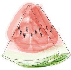 This watermelon print is amazing! Fruit Illustration, Food Illustrations, Graphic Illustration, Inspiration Artistique, Watermelon Art, Watermelon Drawing, Strange Fruit, Pen Collection, Creation Deco