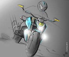 `concept motorcycle sketches and renders