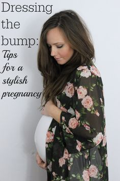 Form fitting dress & kimono maternity