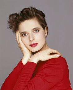 Isabella Rossellini....Ingrid's daughter...as stunning as her mother