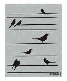 Look what I found on #zulily! Birds On Lines Stencil #zulilyfinds