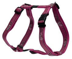 Rogz Fancy Dress Extra Large 1' Armed Response Adjustable Fashion Dog H-Harness, Pink Bone Design -- Check out this great product.