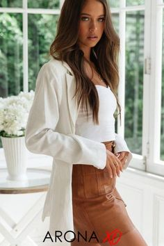 This white oversized blazer from Arona XO is a beautiful white oversized blazer outfit. Wear it as a white oversized blazer outfit street styles or white oversized blazer outfit chic. Get this white oversized blazer outfit summer for only $50.99 now at aronaxo.com and shop all our outfit inspirations summer. #oversizedblazer #whiteoversizedblazer #howtowearwhiteoversizedblazer #oversizedblazerstreetstyle #oversizedblazeroutfit