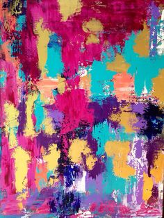 Large Abstract Painting Pink Gold by JenniferFlanniganart on Etsy, $1200.00