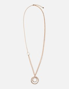 Time to refresh your accessories collection? Start with this versatile necklace. It features two chains for a layered effect, as well as delicate metal discs. The long length means it's the perfect companion for shift dresses or cosy jumpers, proof that everyday chic can be easy (who knew?).