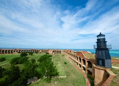 photo of the outside of fort jefferson