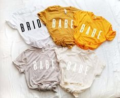 Bride and Babe T Shirts for Bridesmaids + Bachelorettes | Emmaline Bride