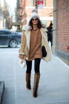 Giovanna Battaglia - уличная мода осень/зима 2015-2016