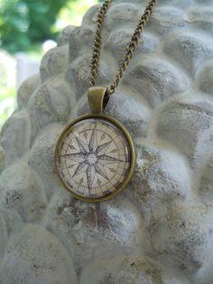 """Ketten - Kette """"Kompass - antik"""", 25 mm - ein Designerstück von Love-design bei DaWanda"""