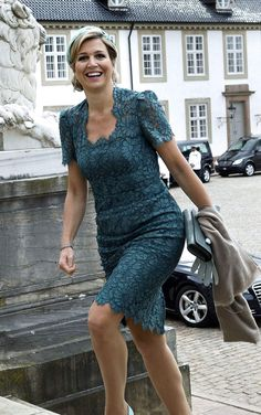 Queen Máxima in Dolce & Gabbana during a visit to Denmark