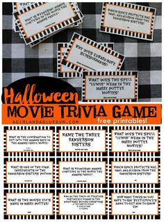 You know I love movies–and I love games–so let's combine it for a fun Halloween game!here is the blank version…just upload it to picmonkey and add your own quote!Hereis the kids version: (just right click and save to your computer and print from there) These have movies for the older crowd (although some are for …