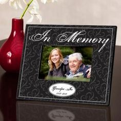 Personalized In Memory Memorial Picture Frame
