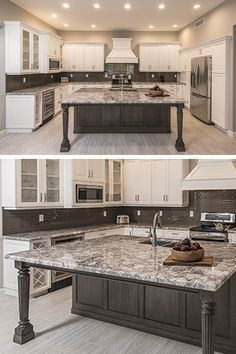 Consider Installing Kitchen Islands To Go With Your Unique Kitchen Design – Home Decor World Home Decor Kitchen, Kitchen Remodel, White Modern Kitchen, Kitchen Island With Seating, Kitchen Island Design, Farmhouse Kitchen Design, Kitchen Renovation, Kitchen Cabinets Makeover, White Kitchen Design