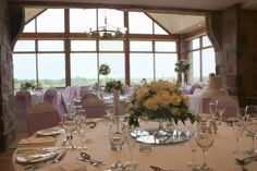 Flower Design Events: Table Designs at Beeston Manor