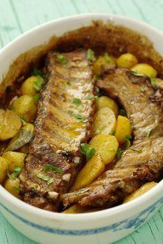 Cinco Quartos de Laranja: Entrecosto no forno com batatas