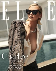 Front page news: Charlize's ELLE Women In Hollywood nomination landed her on the cover of . fashion magazine Charlize Theron attends ELLE Women In Hollywood Event Charlize Theron Style, Charlize Theron Photos, Fashion Magazine Cover, Fashion Cover, Magazine Covers, Elle Magazine, Elle Fashion, Fashion Models, Fur Fashion
