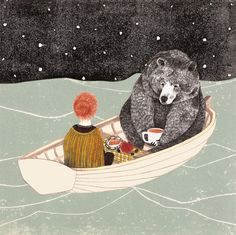 Lieke van der Vorst. if you know me, you know I love black bears. I love this picture. Even though a bear isn't going to ship tea with you, it shows a connection and trust between human and bear that is rare.