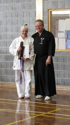 Lucy Patmore receiving her brown belt in karate.  Lucy also makes rag dolls!!