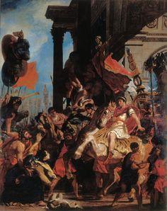 Eugène Delacroix - La Justice de Trajan (1840)