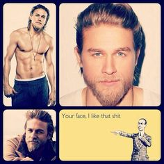 Charlie Hunnam. Holy hotness. But not only his face....