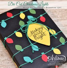 Die Cut Christmas Lights: Stampin' Up! Artisan Blog Hop