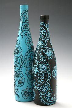 ваза из стеклянной бутылки своими руками мастер класс