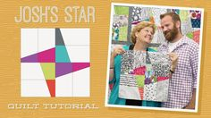 "Make a ""Josh's Star"" Quilt with Jenny and Josh Doan! - YouTube"