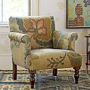 Floral Roll Arm Chair