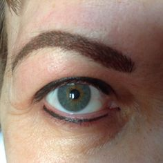 Top and Bottom Liner with Hairstroke Brows @ Just Because Ink Just Because, Permanent Makeup, Brows, Ink, Eyes, Eyebrows, India Ink, Eye Brows, Brow