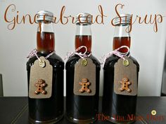 Christmas DIY: Gingerbread Syrup fo Gingerbread Syrup for Coffee : Homemade Christmas Gifts : The Ana Mum Diary Christmas Food Gifts, Christmas Baking, Xmas Gifts, Handmade Christmas, Christmas Recipes, Christmas Hamper Ideas Homemade, Christmas Makes, Noel Christmas, Christmas Coffee