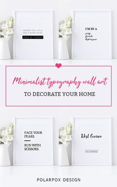 Printable Business Cards, Wall Art, Invitations & more by PolarfoxDesign Typography Prints, Quote Prints, Printable Art, Printables, Printable Business Cards, West Covina, Social Media Template, Decorating Your Home, Print Design