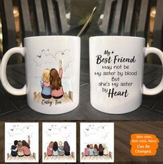 gift ideas for various situations Personalized custom female best friend bestie sister birthday gift Best Friend Canvas, Best Friend Mug, Friend Mugs, Best Friend Gifts, Best Friends, Best Friend Christmas Gifts, Birthday Gifts For Best Friend, Sister Birthday, Christmas Mugs