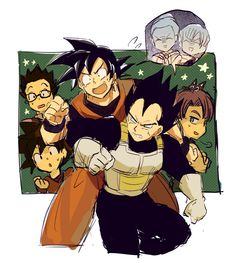 Vegeta and Goku Dragon Ball Z, Dragon Ball Image, Chi Chi, Akira, Gohan And Goten, Dbz Characters, Cool Cartoons, Manga Anime, Sketches