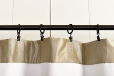 Hanging drapery panels using ring clips