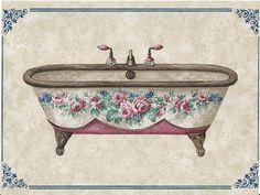 Imágenes decoupage baño