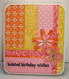 Coloured white embossed card