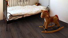 5993 Objectflor Expona Domestic Vinyl Designbelag Dark Saw Cut Oak Vinyl, Toddler Bed, Flooring, Dark, Furniture, Home Decor, Homemade Home Decor, Hardwood Floor, Home Furnishings