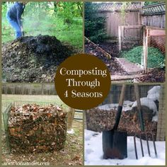 Tomatoes Gardening Composting through 4 seasons with Tomato Dirt - When to compost? During all 4 seasons! Use this guide for composting tips to use during spring, summer, fall, and winter. Organic Farming, Organic Gardening, Gardening Tips, Urban Gardening, Sustainable Gardening, Vegetable Gardening, Sustainable Living, Growing Tomatoes In Containers, Growing Vegetables