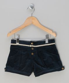 Look at this La faute à Voltaire Blue Corduroy Shorts - Infant, Toddler