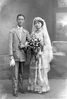 Chinese wedding in Singapore - 1910